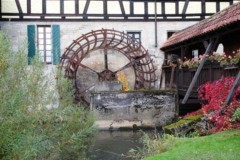 Mühlenrad an der Bergmühle Neudrossenfeld