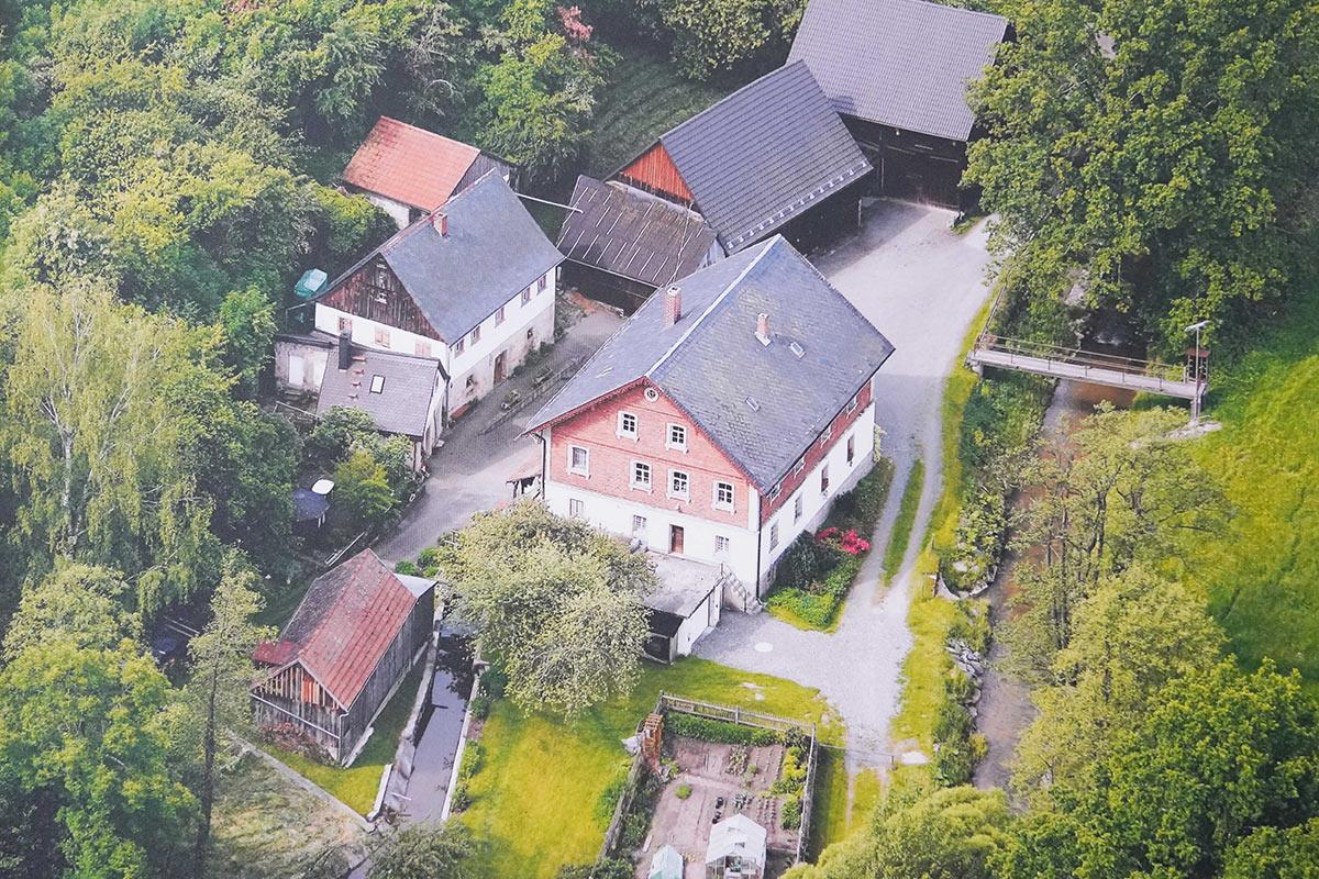 Luftaufnahme der Schlehenmühle